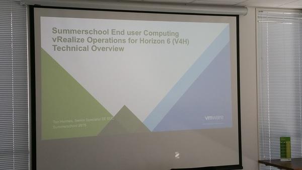 Summerschool dag 2 @VMware_NL topic today: euc