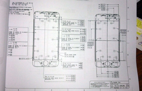 Is dit de schematische blauwdruk van de iPhone 5?