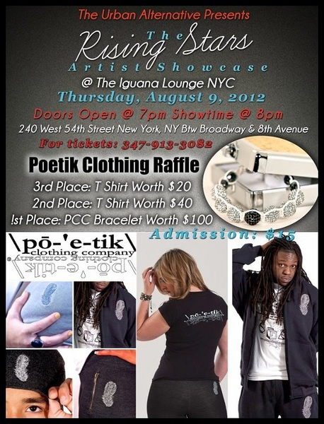 #Discover #New #Talent. Come to The Rising Stars Artist Showcase. Enter @poetikempire #Raffle to #Win #Prizes