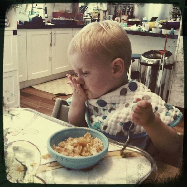Fletcher of the day: diggin the risotto