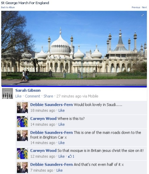 Brighton Pavilion is not a mosque