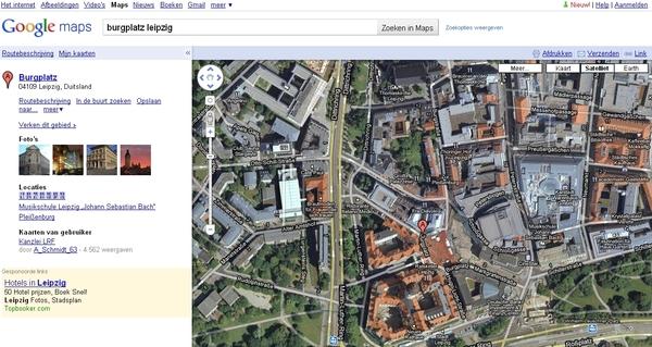 wat is dit cool. oranje op plein duitsland 2006. google maps.