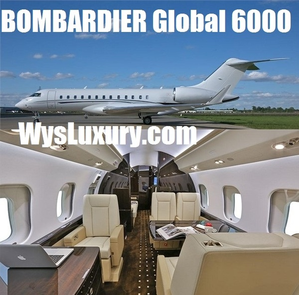 Bombadier Aircraft Global 6000 Interior Private Jet Air Charter Flight