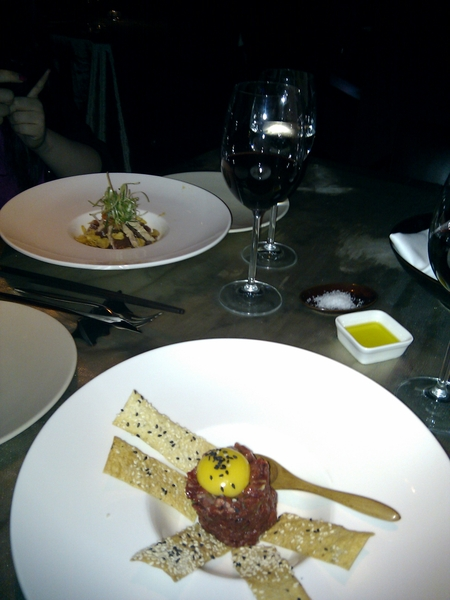 The starters at M1NT, dinner with @crosstheC