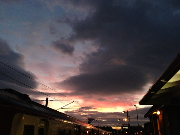 Angry looking sky at Lanark station this morning.