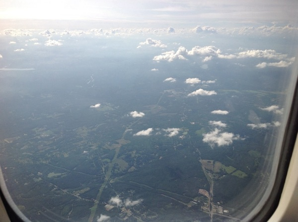 'Bout to land in Atlanta…  #hotandhumid  #notwhatilikeaboutthesouth