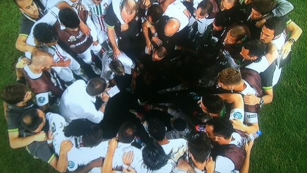 Team Portugal still uses paper and pencil to teach PK strategy at #Euro2012. #POR