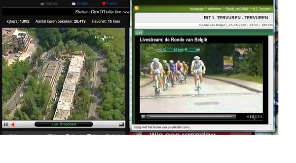 Giro & ronde van belgie in één beeld