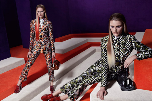 Prada's space-age maze fw12 ad campaign by Steven Meisel