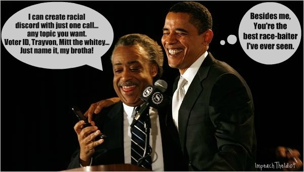 Best buddie in bring down the US one racial crisis after another  #tcot #GOP #Vote2012 #racism #Zimmerman #racist