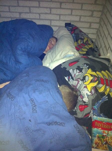 het grut nog in diepe slaap #genieten