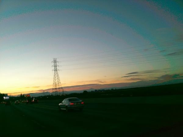 Sunsetting through Fog Fingers