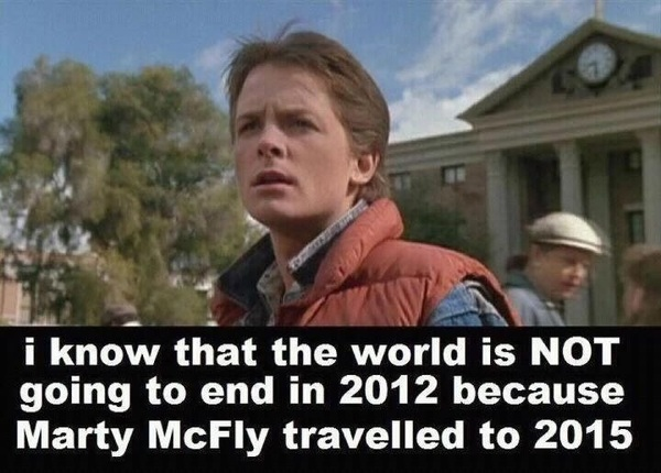 Proof that the world won't end this year