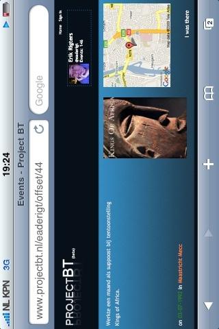 #projectbt ziet er op de iPhone  cool uit. :-) - @jrigters