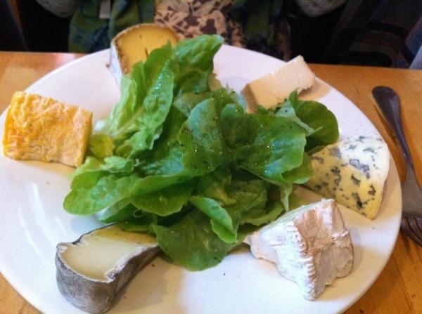 Gr8 simple lunch@wine bar n oldest Paris market, Marché des Enfants Rouge. Charcuterie,memorable cheese,young wine