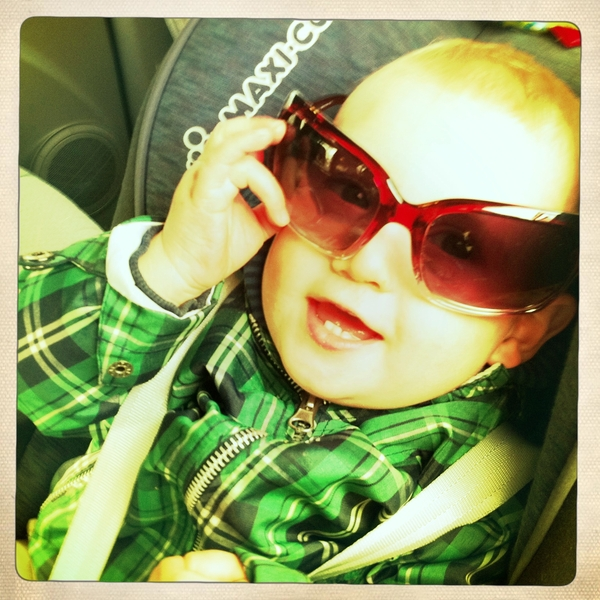 Fletcher of the day: Sunglasses and a smile.