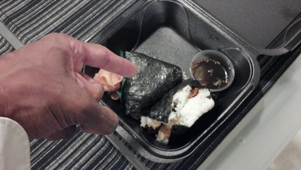 My local sushi chef made me onigiri for my birthday. THEY'RE FUCKING DELICIOUS.