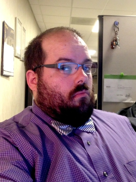 Got to sport a new bow tie today. #fb