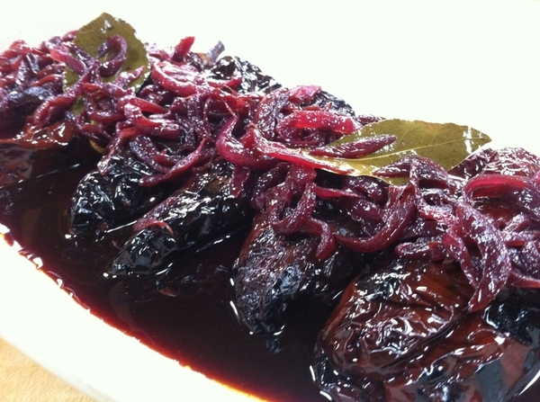 """Mexico--One Plate"" shoot day 3: ricotta-stuffed ancho chiles with red onion-red wine escabeche"