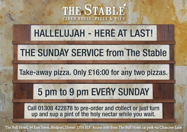 Sunday Service starts at The Stable this Sunday http://bit.ly/a071td
