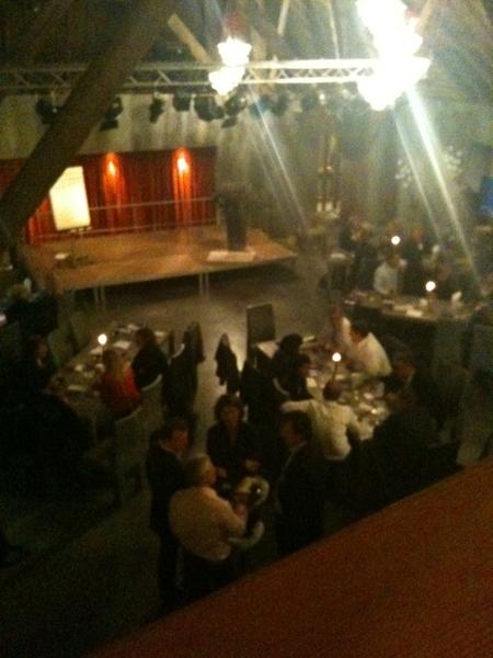 Walking dinner tijdens Contacten bij de Vleet. Remco Claassen was genieten!