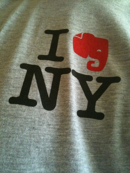 First outing for my @Evernote shirt