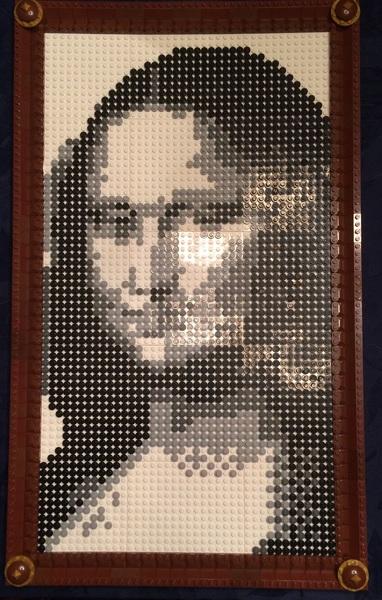 Human2 n I finished da #LEGO Mona Lisa we were making for Human1. @ZackRabbit @ItsMeDeaner @stinkerswinkers