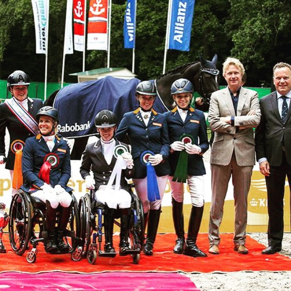 Very spooky competition today @CHIO Rotterdam with Uniek NOP. Made the best of it. 3rd place with 73,6% #finals #para #trophy