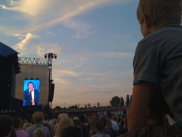 Concert @borsato #westerpark w/ son and @huub, great atmosphere!!