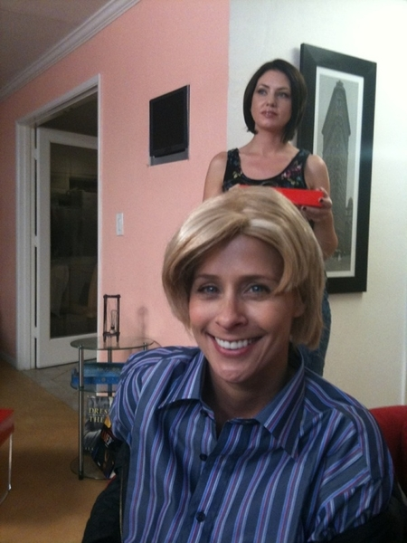 """On the set of """"Transformations"""" with @PaytonLeigh69 & @SarahShevon."""