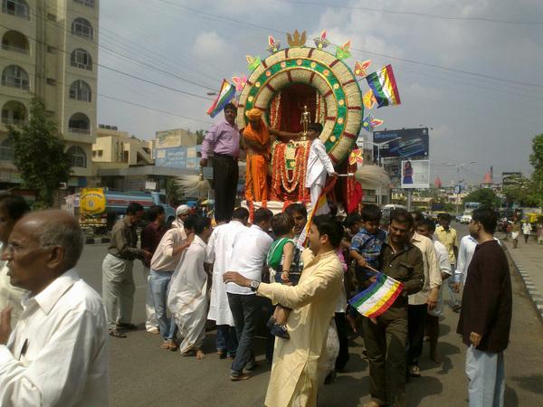 #Mahavir Jayanti procession @ HAL #Bangalore
