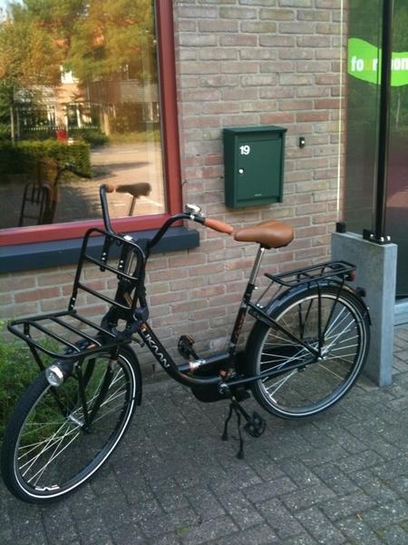 Half uur gefietst van Utrecht naar mijn kantoor in Zeist! Sportief begin vd dag :))