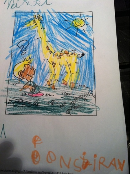 'en sjirav' = 'een giraf'