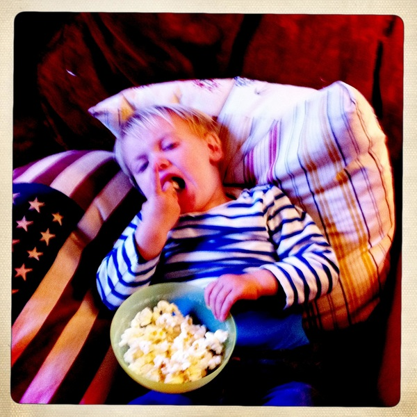 Fletcher of the day: the patient eating popcorn.