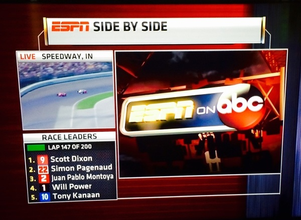 Side by Side presented by sponsors of @ESPN's telecast of the Indy 500 @IMS. #Indy500 #sportstech