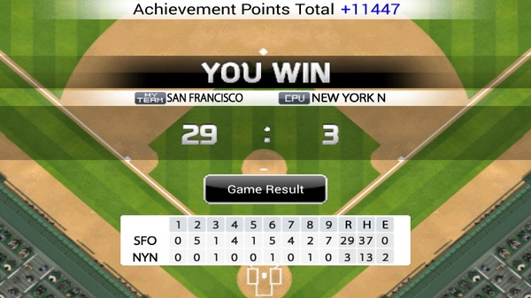 30-3 just now. More I get denied an shutout more I just kick their ass. #9Innings #MLB #Android #Apple