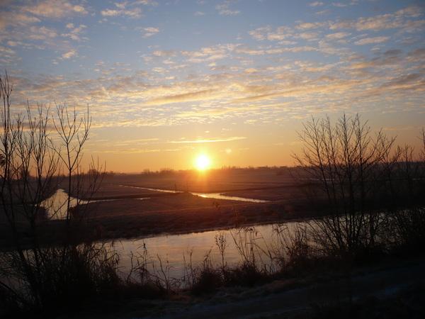 Zonsopkomst in de polder #buienradar