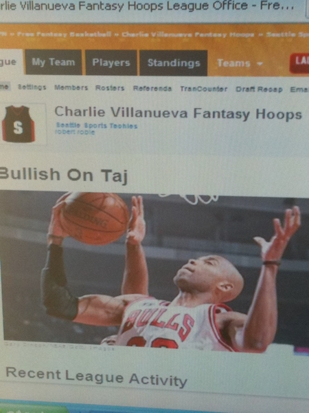 Charles Villanueva @CV31 #ESPN NBA.com Fantasy Basketball League -Seattle Sports Techies! #NBA