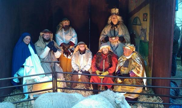 Levendige kerststal in Wijk bij Duurstede