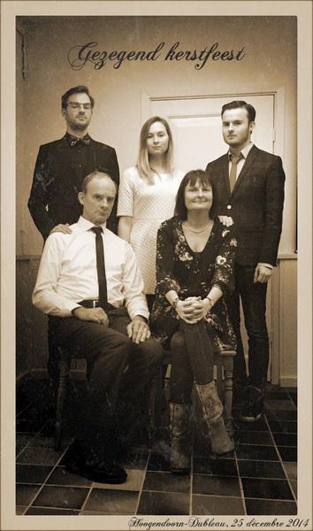Gezegend kerstfeest van de familie Hoogendoorn-Dubleau