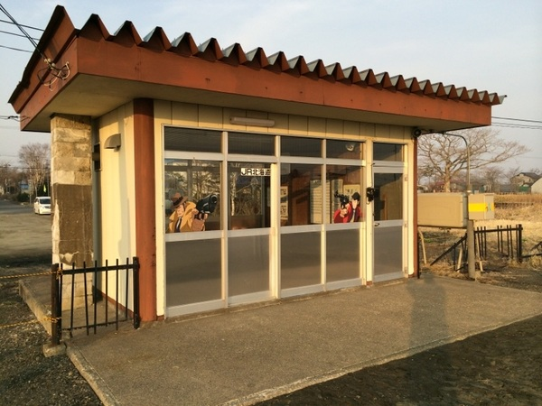 姉別駅。浜中町最後の駅では、ルパン三世と銭形警部が対峙。 場所: http://j.mp/1hBxFVX
