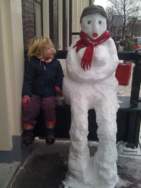 Funny snowman!