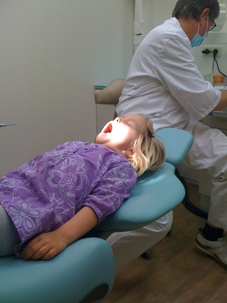 Kids did well: mouth open (all the time) and no cavities
