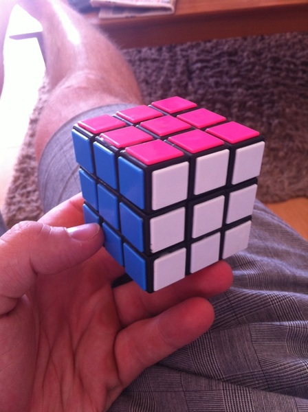 Bit of 'Rubik's revision' this afternoon. You still got it  @rhys_bepe!? #likeridingabike!
