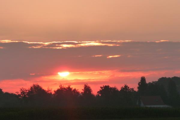 mooie zonsopkomst in de vroege donderdag morgen 7.41 in Nederweert #buienradar