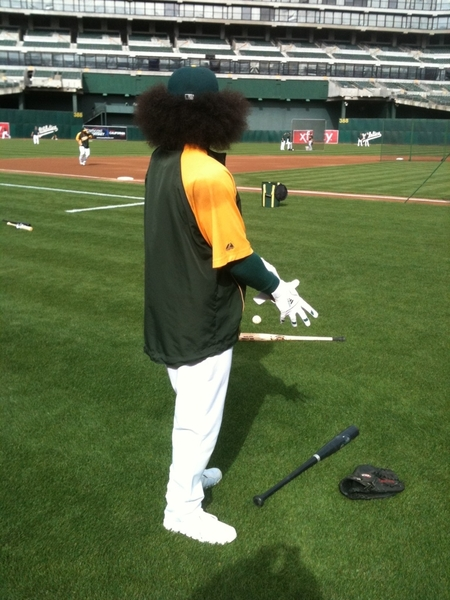 One more of Coco Crisp from a different angle.