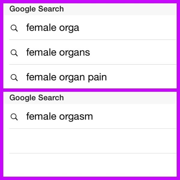 Wait what? Google had a variety of suggestions, but the placement of S threw it off? So female hysteria still exists?