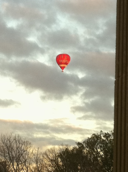 Sun is up in Melbourne!  See the hot air balloons over Flaggstaff Gardens!