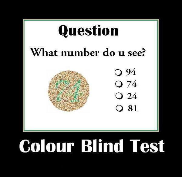 Color blind test.