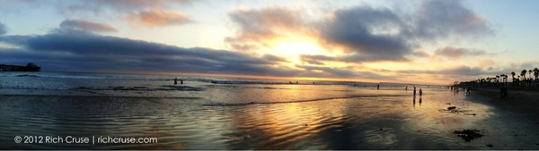 Pano sunset in @VisitOceanside #iphone4s